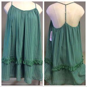 💚 NWT! Unique GB dress with tassels